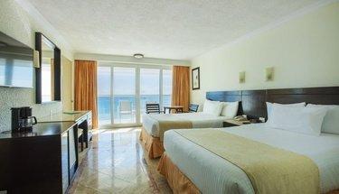 Quarto deluxe com vista para o mar Hotel Krystal Cancún Cancún